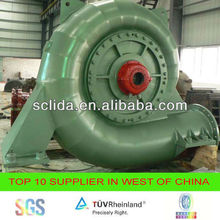 Francis water turbine for hydro electric power plant 2500kw generator