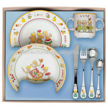 crockery porcelain bone china color glazed enamel dinner set gift boxes