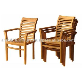 Teak Outdoor Furniture - New Stacking Chair