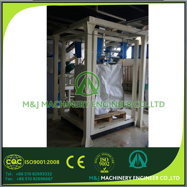 Packaging line production for powder and granular materials