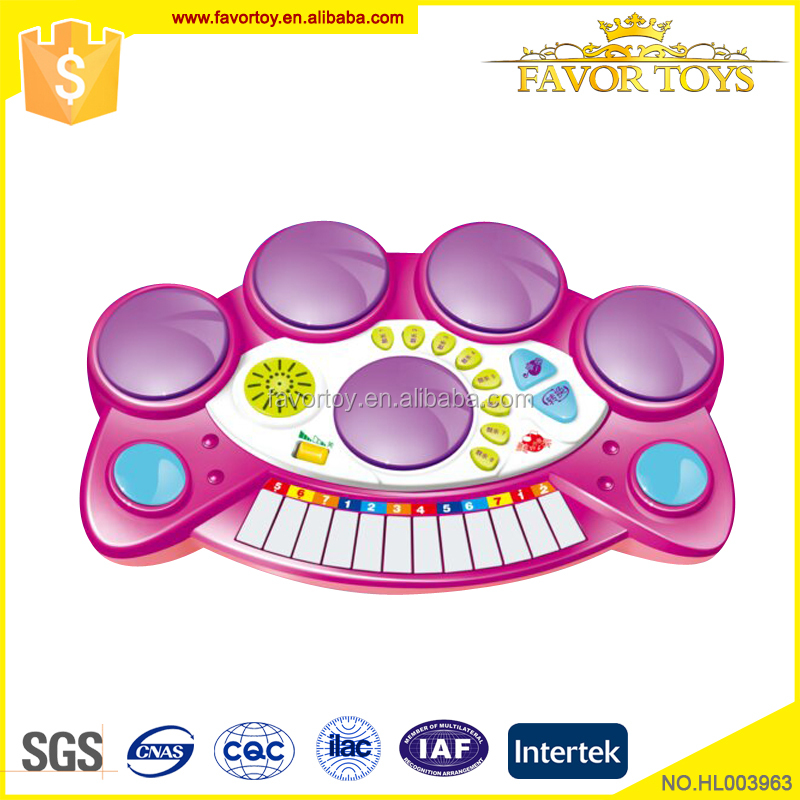 Plastic musical toys piano keyboard set kids play electronic organ