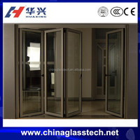 European Standard modern design aluminum alloy curved folding door