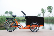 2015 hot sale adult three wheel electric Cargo Bike/Electric tricycle fashion model 6 speeds UB9031E-6S