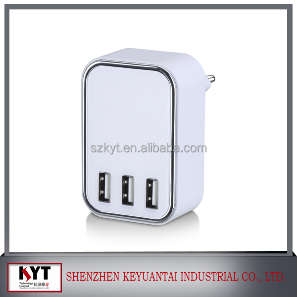 3 port usb charger 5V 4.5A 3 port Travel USB Charger Multi USB Charger for iPhone iPad Samsung Galaxy Pad, CE FCC ROHS KC SAA