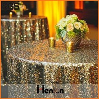 wholesale coustom metallic sequin round table cloth