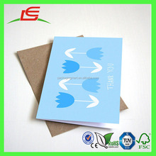 J470 High Quality Lovely Custom Folding Greeting Card Wholesale