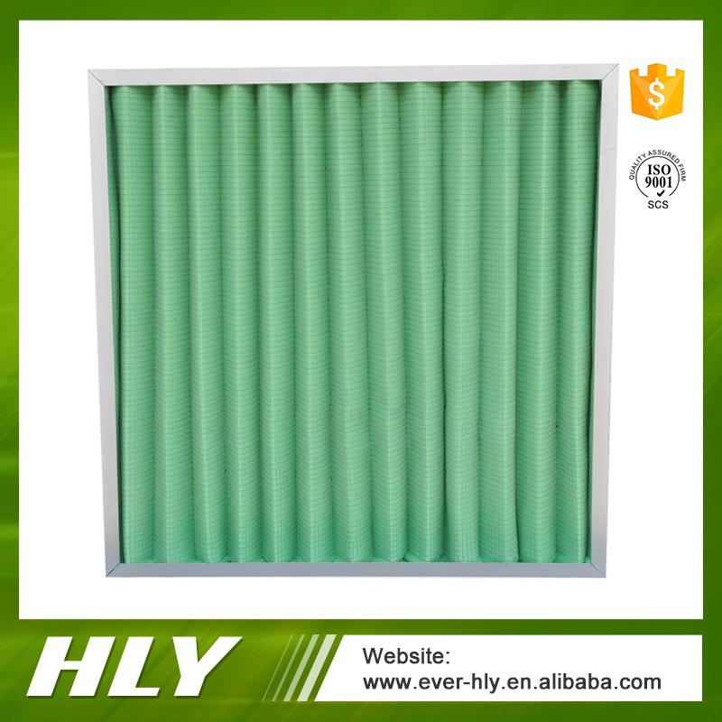 Air handling units and hvac aluminum frame panel pleated air filter for AHU
