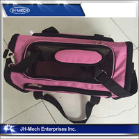 Pink color strong double expandable pet carrier pet crate