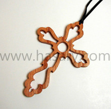 Wooden cross decoration wood bookmark