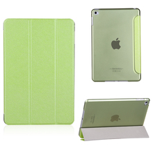 High quality Ultra Slim Magnetic Leather Smart Cover Hard Back Case for iPad mini