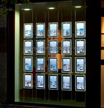 Transparency Acrylic led hanging real estate agent window led display