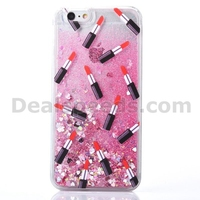 Lipstick Glitering Liquid Hard Housing Case Phone Cover for iPhone 6