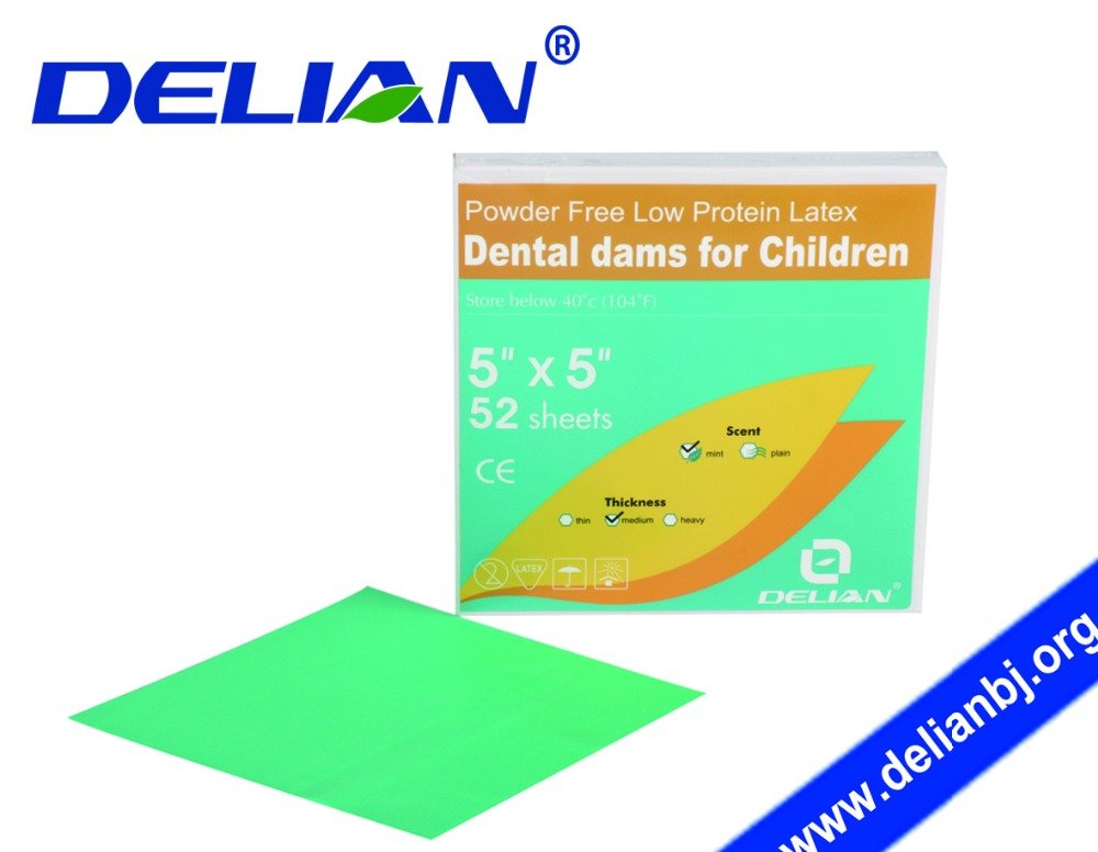 Delian Dental Dams for Children Latex Rubber Dams for Kids Dental Dams for Kids Dental Products Oral Hygiene