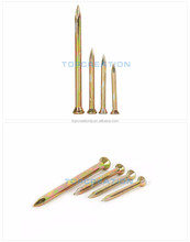 nail factory plating color hanging head steel nails concrete steel nail