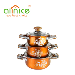 wholesale cooking pot ss410 stainless steel dinner set cookware container for soup