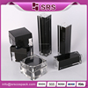 Luxury Square Container And China Supplier 15ml 30ml 50ml 100ml Pump Skincare Airless Bottle Black