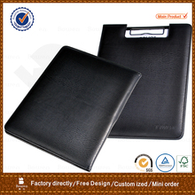 wholesale cheap pu custom A4 leather menu cover with pen holder