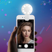 hot sale 9 leds get beauty rechargeable selfie ring light for mobile phones