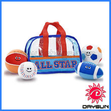 Hot clear pvc tote bag sport bag for toddler toys