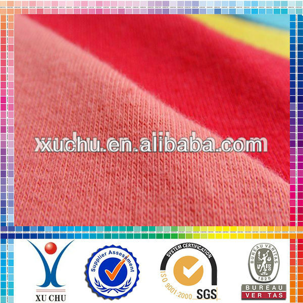 100%Cotton Spandex Jersey cotton spandex dyed single fabric