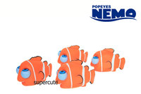 Classical Series of Nemo Vinyl rolling eyes pop out squeeze toys