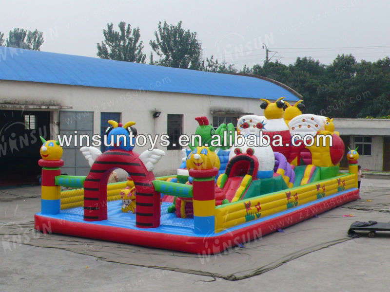 2013 promotion factory sales giant fun city inflatable
