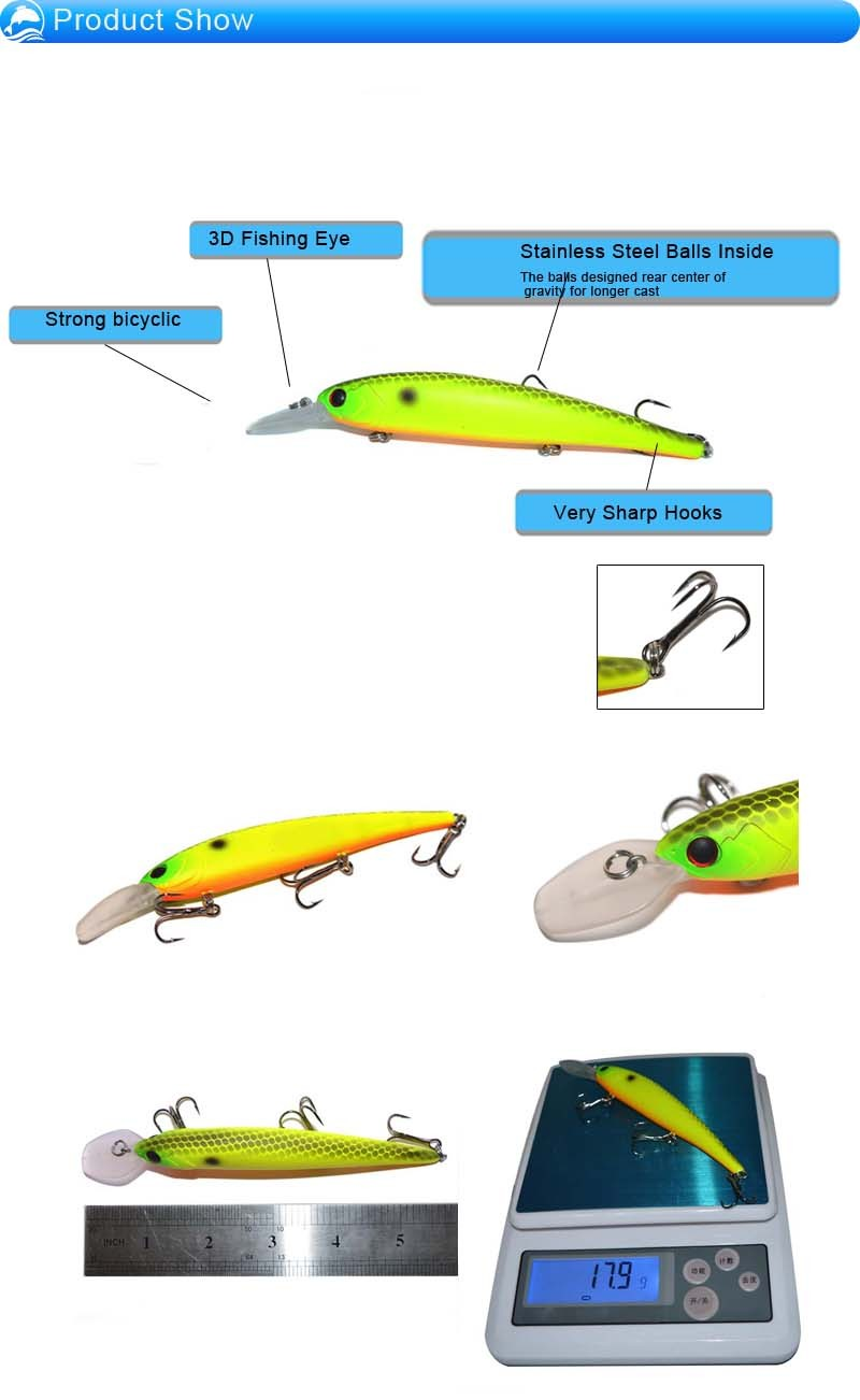 5.5''17.9g 2016 New Fishing lure, fishing lure molds, alibaba in China