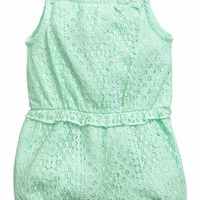 Baby Girl S Lace Romper Suit