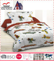 Latest cool boy design thick fitted queen size bedding quilt cover set