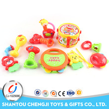 ECO-friendly ABS baby toys education plastic rattle 13pcs