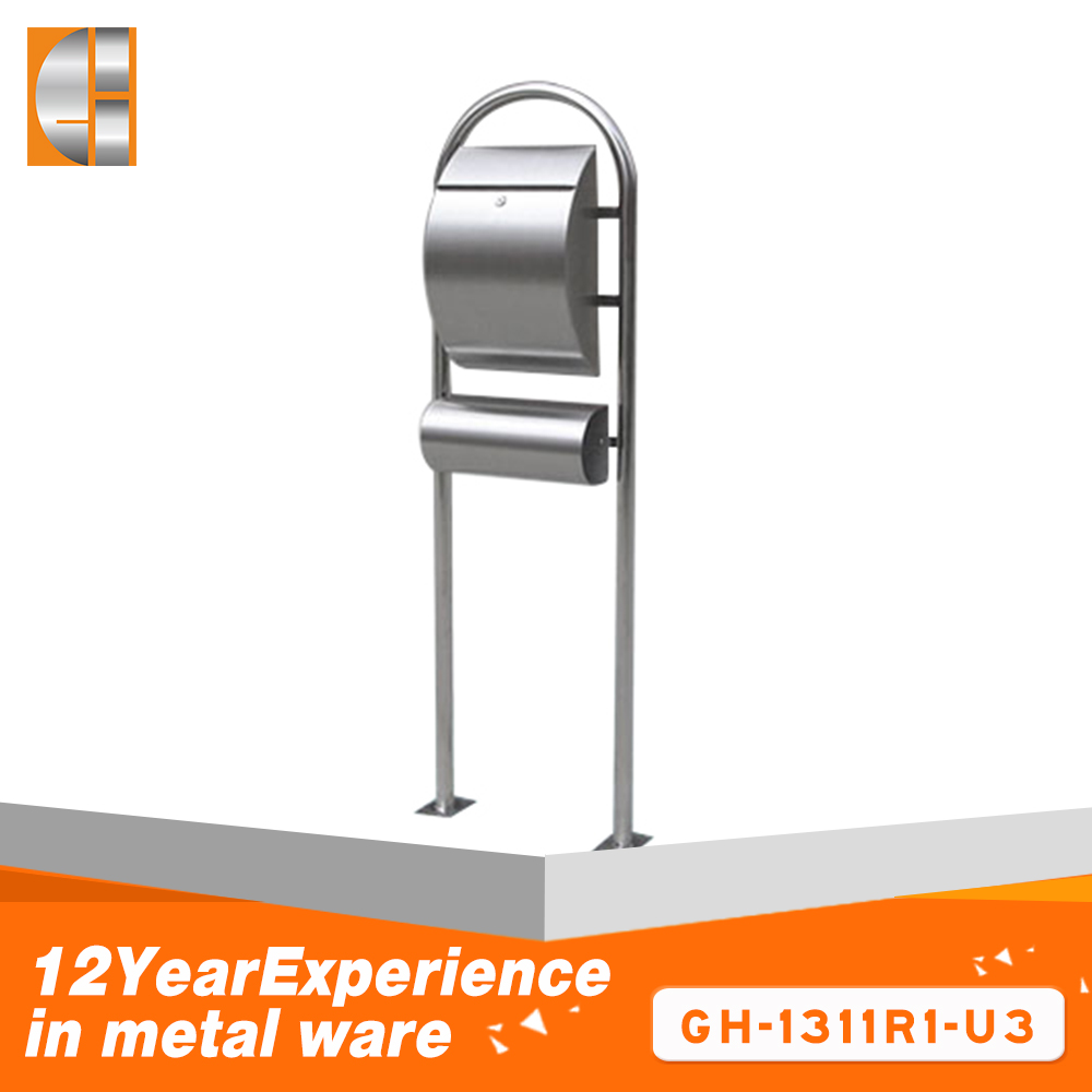 2018 new design american stainless steel mail boxes lock