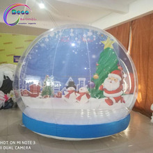 christmas decoration Human sized inflatable snow globe for Christmas