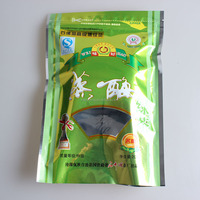 Tea bag!Laminated material flat bottom tea packing bag with clear window,cheap and top quanlity