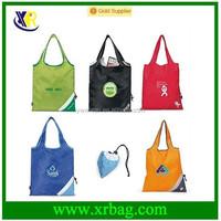 fashion polyester recycled shopping bag with logo
