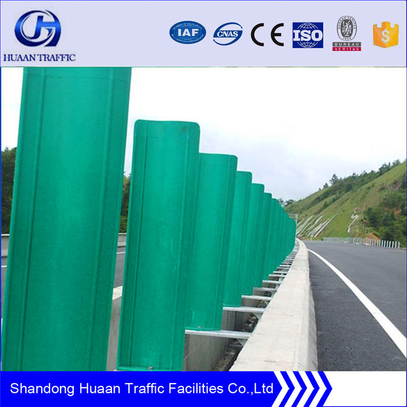 Highway guardrail used anti dazzling panel