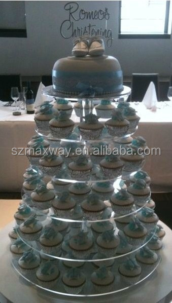 2014 hot sale clear acrylic Christmas cake display stand for Christmas
