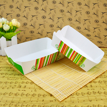Wholesale white cardboard chicken box snack food boat boxes