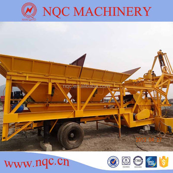 YHZS-35 mobile concrete batching plant seller (35m3/h)
