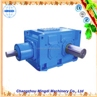 90 degree gear drive used H/B Serial Helical / Bevel Transmission Gear box Parts With Electric Engine motors with reduction gear