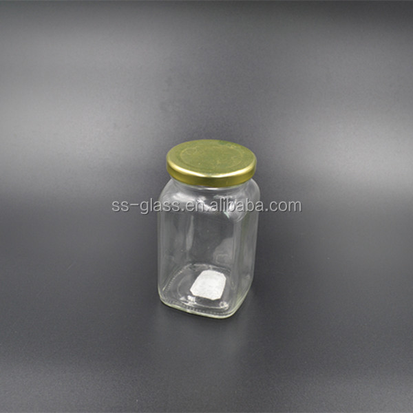 250ml square glass jar