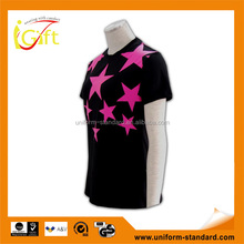 Low MOQ hot sell good quality screen printing ladies fancy design t-shirt