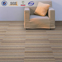 Polypropylene PVC backing library office carpet, anti noise the room carpet tile in size 50x50cm