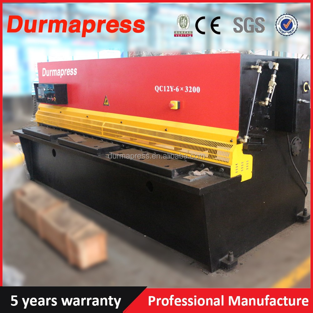E21S Control System Durmapress Brand QC12Y 4X2500MM Shearing <strong>Machine</strong> For Sale