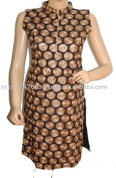 Cotton Kurti made of chicken work