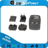 ac/dc Medical intrchangeable plug 24w 12v 2a power adapter with EN60601