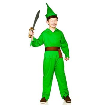 Boys Storybook Robin Hood/Lost Boy Elf Halloween Fancy Dress Costume 5-7 years BP3832
