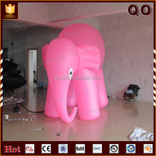 Customized cartoon character giant inflatable elephant for advertising