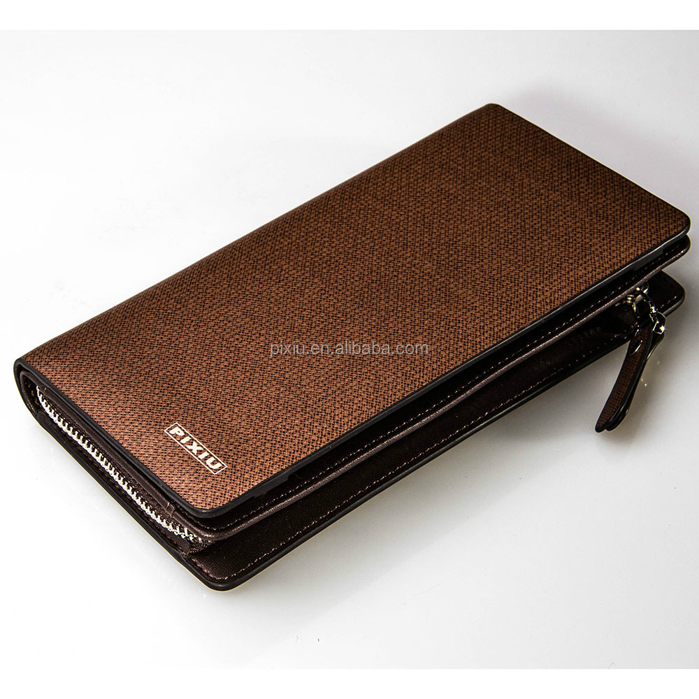 Hong Kong Bestselling Zipper Closure Long Wallet Genuine Leather