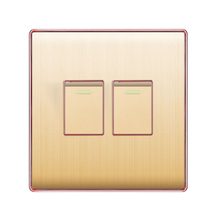 Bangladesh And Pakistan Style Aluminum Panel 2 Gang 1 Way Wall <strong>Switch</strong>