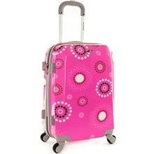 SHENGMING Custom Design Pink Polka Dot Luggage Bag